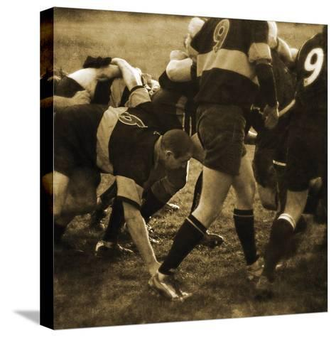 Rugby Game II-Pete Kelly-Stretched Canvas Print
