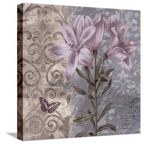 Floral Butterfly II-Emma Hill-Stretched Canvas Print
