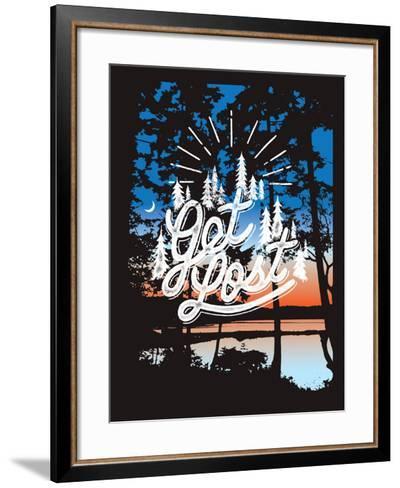 Get Lost-Mike Klay-Framed Art Print