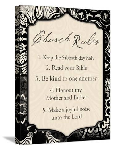 Church Rules II-Jace Grey-Stretched Canvas Print