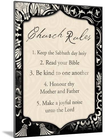 Church Rules II-Jace Grey-Mounted Art Print