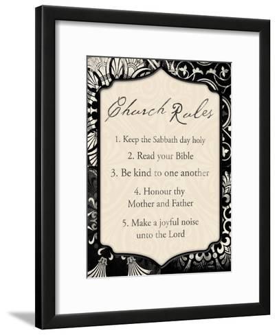 Church Rules II-Jace Grey-Framed Art Print