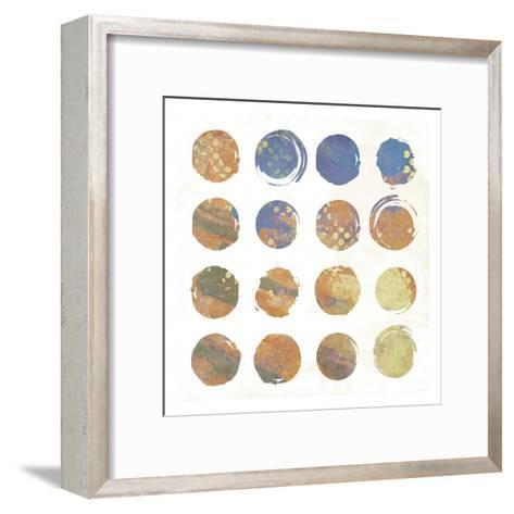Circle Abstract 2-Jace Grey-Framed Art Print