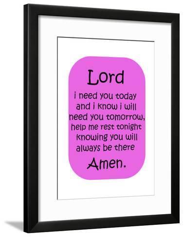 Amen Girl-Sheldon Lewis-Framed Art Print