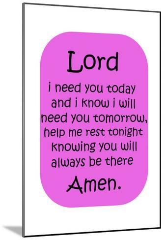 Amen Girl-Sheldon Lewis-Mounted Art Print