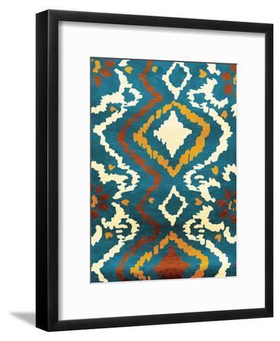 Pattern Blue-Jace Grey-Framed Art Print
