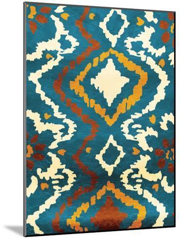 Pattern Blue-Jace Grey-Mounted Art Print