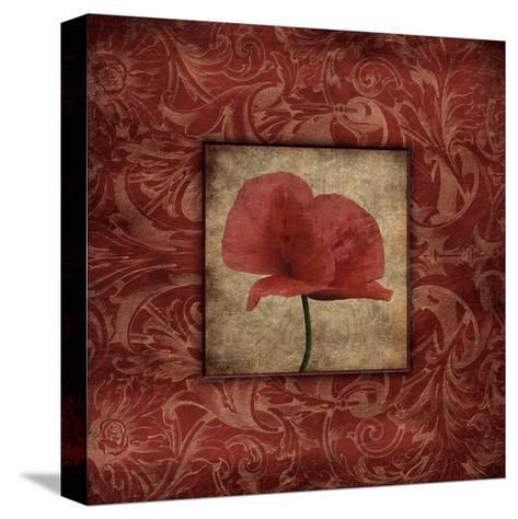 Poppie II-Jace Grey-Stretched Canvas Print