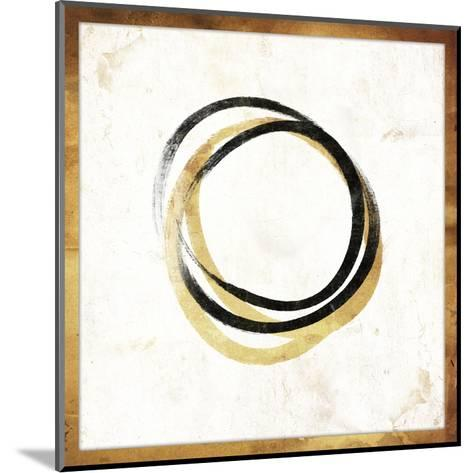 Gold Abstract II-Jace Grey-Mounted Art Print