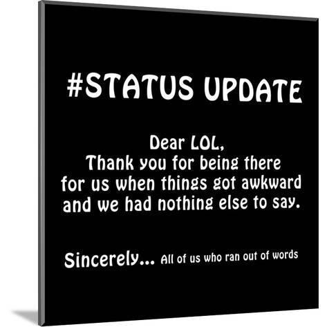 Status Update 2-Sheldon Lewis-Mounted Art Print