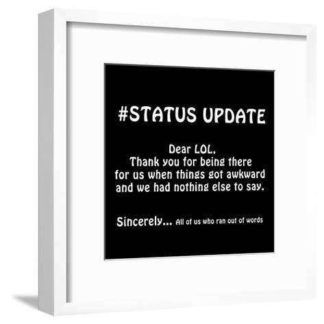 Status Update 2-Sheldon Lewis-Framed Art Print