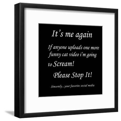 Stupid Post 3-Sheldon Lewis-Framed Art Print