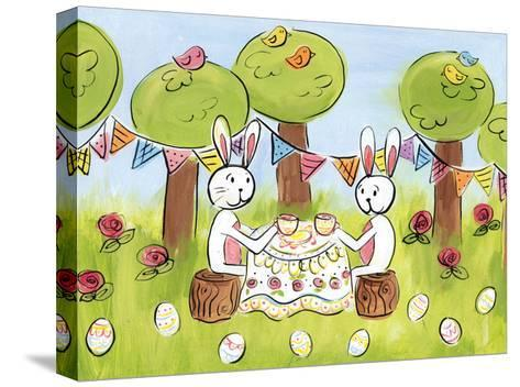 Easter Egg Tea-Erin Butson-Stretched Canvas Print