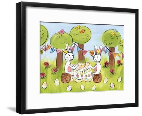 Easter Egg Tea-Erin Butson-Framed Art Print