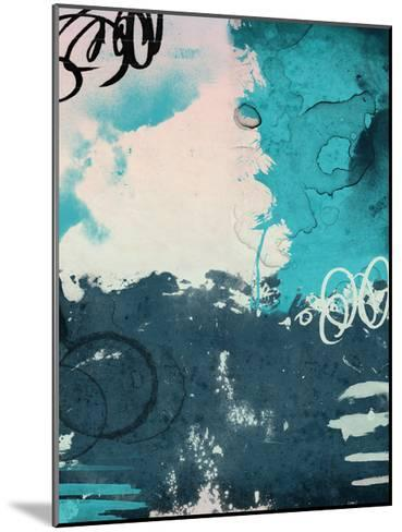 Blue Abstract-Jace Grey-Mounted Art Print