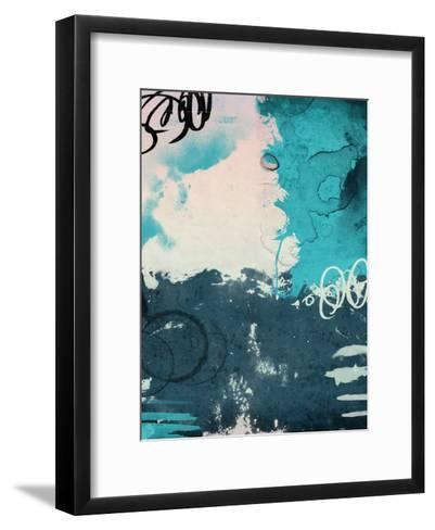 Blue Abstract-Jace Grey-Framed Art Print