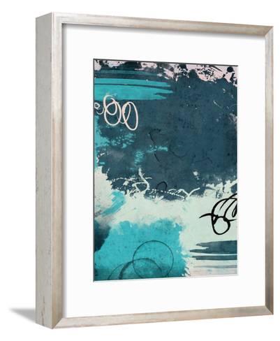 Blue Abstract II-Jace Grey-Framed Art Print