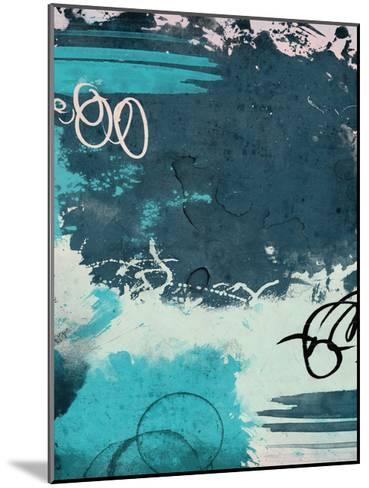 Blue Abstract II-Jace Grey-Mounted Art Print