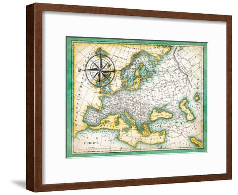 Tropical Map-Jace Grey-Framed Art Print