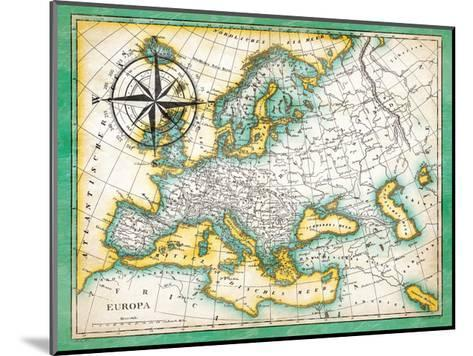 Tropical Map-Jace Grey-Mounted Art Print