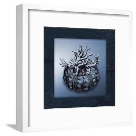 Nautical Blue-Jace Grey-Framed Art Print
