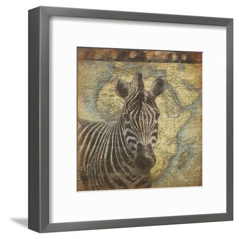 Zebra Travel-Jace Grey-Framed Art Print
