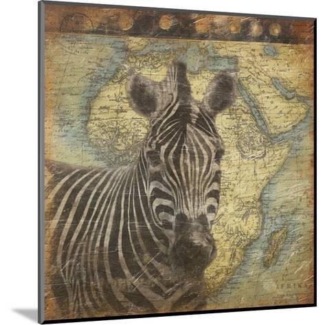 Zebra Travel-Jace Grey-Mounted Art Print