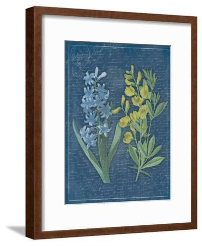 Blue Print Floral II-Jace Grey-Framed Art Print