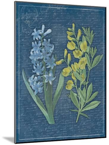 Blue Print Floral II-Jace Grey-Mounted Art Print