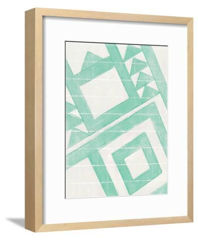 Teal Geo-Smith Haynes-Framed Art Print