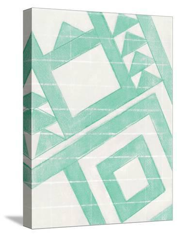 Teal Geo-Smith Haynes-Stretched Canvas Print