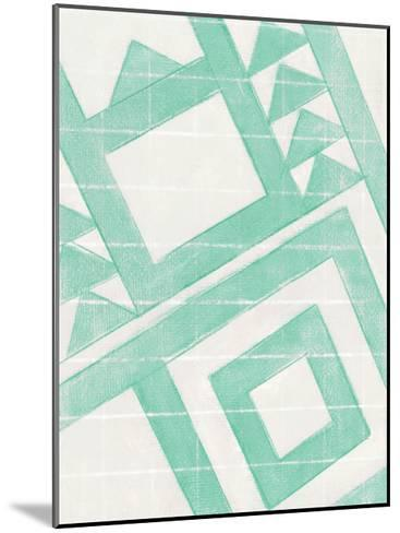 Teal Geo-Smith Haynes-Mounted Art Print