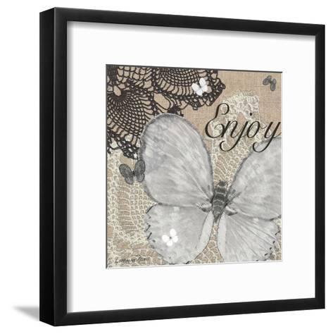 Butterfly Enjoy-Lorraine Rossi-Framed Art Print