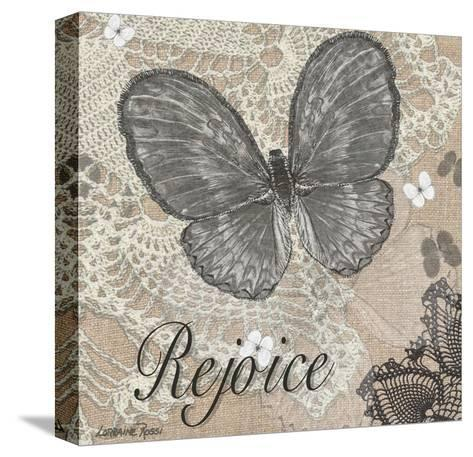Butterfly Rejoice-Lorraine Rossi-Stretched Canvas Print