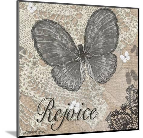 Butterfly Rejoice-Lorraine Rossi-Mounted Art Print