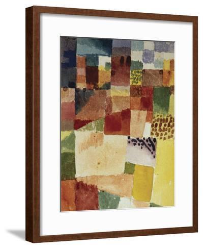 Motif from Hammamet, 1914 (No 48)-Paul Klee-Framed Art Print