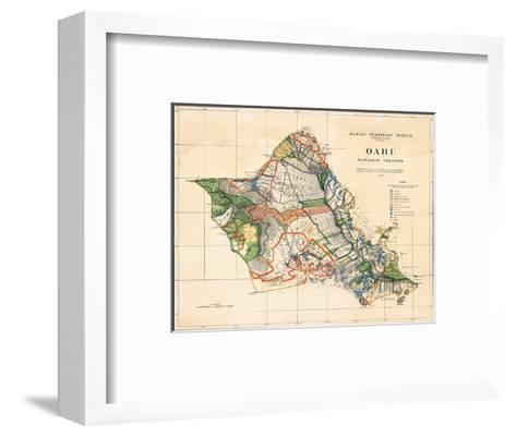 Oahu, Hawaiian Islands, Hawaii Territory Survey Map-John M^ Donn-Framed Art Print