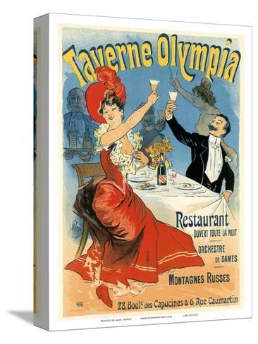 Taverne Olympia Art Nouveau, La Belle Époque-Jules Ch?ret-Stretched Canvas Print