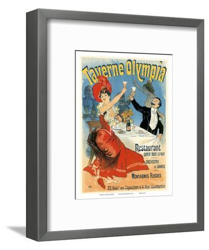 Taverne Olympia Art Nouveau, La Belle Époque-Jules Ch?ret-Framed Art Print