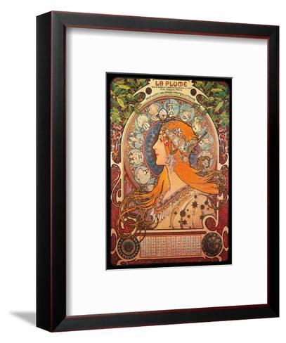 Calendar, Art Nouveau, La Belle ?poque-Alphonse Mucha-Framed Art Print