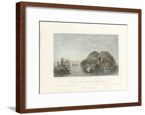 Yin-shan, or Silver Island, on the Yang-tse-keang-Thomas Allom-Framed Art Print