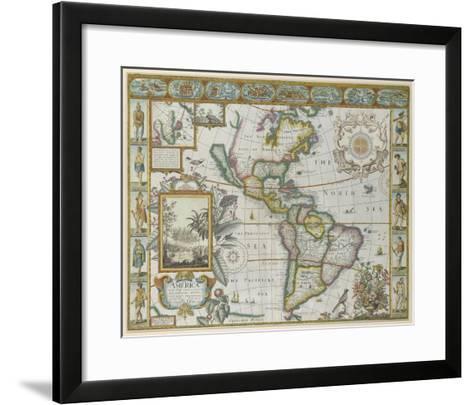 Map of America (Imaginaire)-Maria Mendez-Framed Art Print