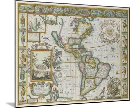 Map of America (Imaginaire)-Maria Mendez-Mounted Giclee Print
