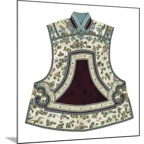 Embroidered Silk, Floral Tabbard, Front- Oriental School -Mounted Premium Giclee Print