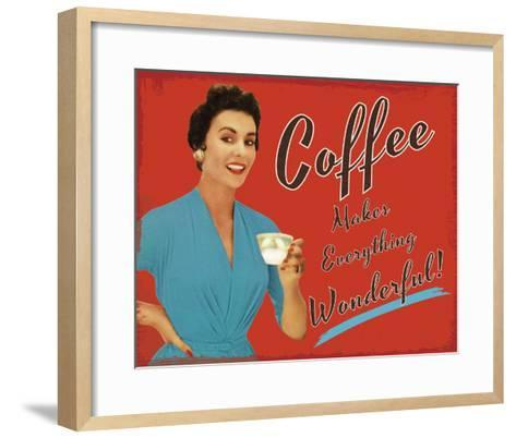 Coffee Time-The Vintage Collection-Framed Art Print