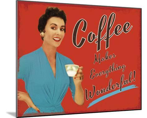 Coffee Time-The Vintage Collection-Mounted Giclee Print
