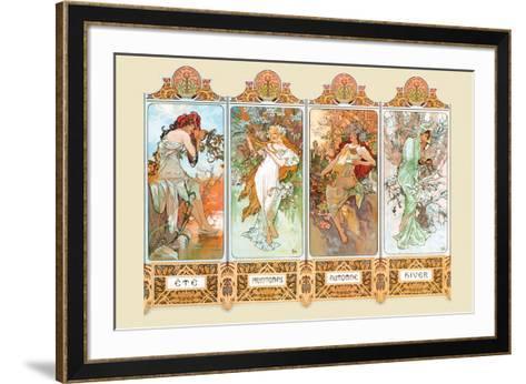 Mucha The Four Season-Alphonse Mucha-Framed Art Print