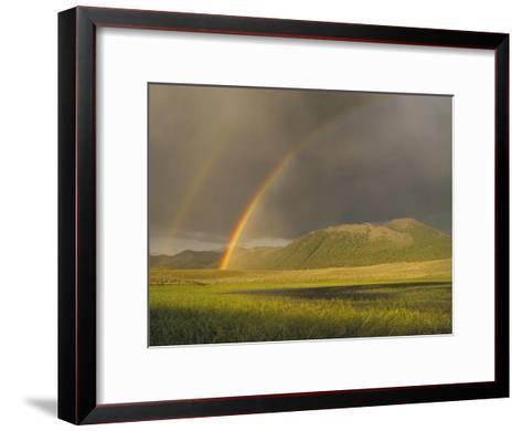 Rainbow over Boulder Mountains, Idaho-Tim Fitzharris-Framed Art Print
