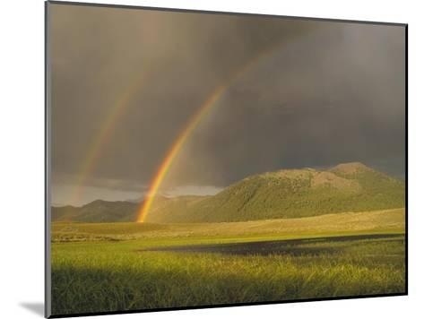 Rainbow over Boulder Mountains, Idaho-Tim Fitzharris-Mounted Art Print