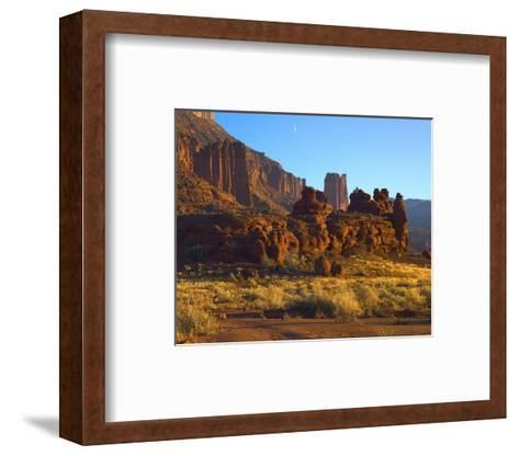 Fisher Towers at Professor Valley, Utah-Tim Fitzharris-Framed Art Print